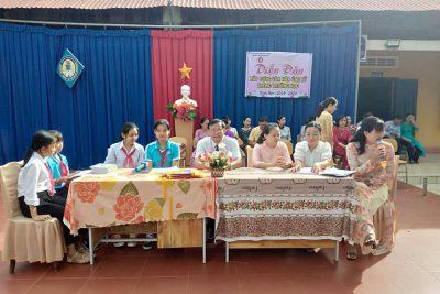 Liên đội trường THCS Nguyễn Huệ với diễn đàn xây dựng văn hóa ứng xử trong trường học