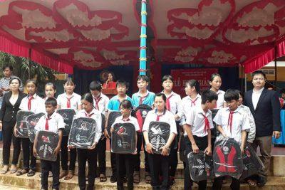 Trường THCS Nguyễn Huệ long trong tổ chức lễ khai giảng năm học 2019-2020.
