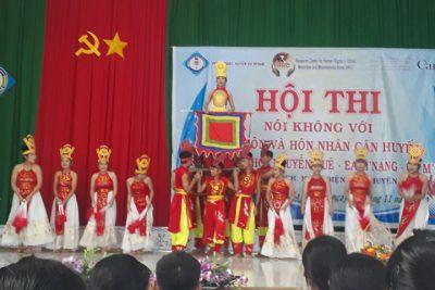 """Trường THCS Nguyễn Huệ với hội thi """"Nói không với tảo hôn, hôn nhân cận huyết"""""""
