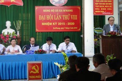 Đảng bộ xã EaM'nang đại hội lần thứ VIII nhiệm kỳ 2015-2020 thành công tốt đẹp