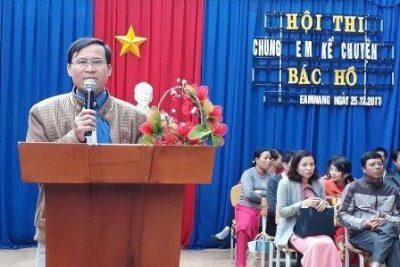 Liên đội trường THCS Nguyễn Huệ tổ chức hội thi: Chúng em kể chuyện Bác Hồ năm học 2017-2018.